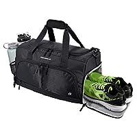 حقيبة الصالة الرياضية المثالية 2.0: حقيبة كرادسورس المتينة المصنوعة من القماش الخشن مع 10 مقصورات مثالية بما في ذلك الحقيبة المقاومة للماء