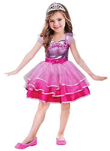 �m für Mädchen - 3 bis 5 Jahre (Schnelle Barbie Kostüm)