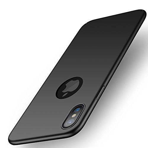 Cover iphone x, ailrinni custodia iphone x [ultra sottile anti graffio] protettiva opoca custodia cover per iphone x - nero