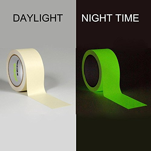 Clickforsign GIDT-24mm-10FT Glow In the Dark Night Glow Vinyl Self Adhesive Tape (24mm x 10 Feet)