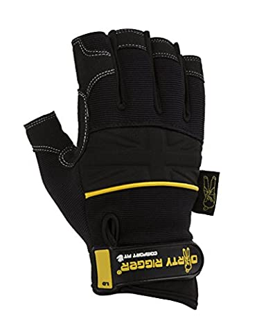 Dirty Rigger Comfort Fit Rigger Handschuhe, fingerlos Parent ASIN Handschuhe S-Small