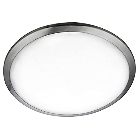 Searchlight LED BATHROOM IP44 FLUSH, SATIN SILVER TRIM, FROSTED GLASS SHADE 7938-30SS