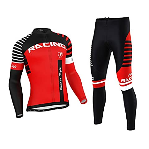 FDX Mens Blaze Cycling Jersey Cold Wear Thermal Top +