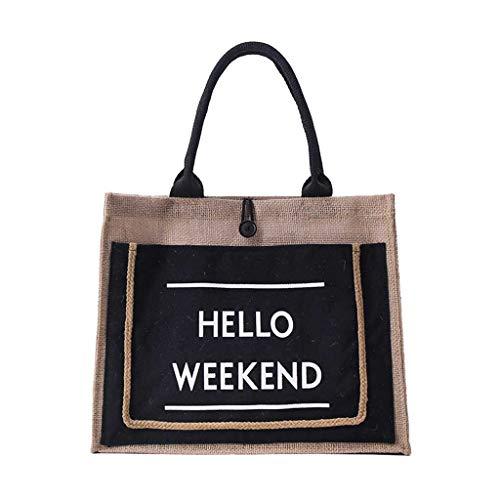 Mitlfuny handbemalte Ledertasche, Schultertasche, Geschenk, Handgefertigte Tasche,Damen Leinen Handtasche Große Kapazität Lässige Schultertasche Tägliche Tasche Einkaufstasche