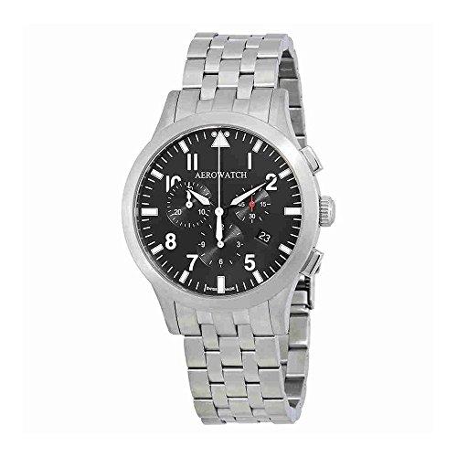 aerowatch the grand classics pilot chronograph swiss made mens watch a 83966 aa03 m