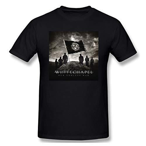 Milliebrown Baumwolle Herren Whitechapel T-Shirt Mit Herren-Kurzarm Black M Whitechapel T-shirts