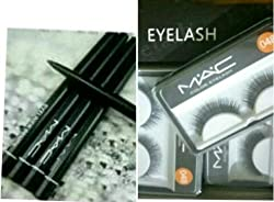 MAC Eyeliner/ Lipliner with Combo MAC Eyelashes