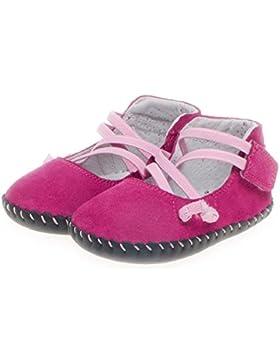 Little Blue Lamb - Zapatos de bebe primeros pasos de cuero niñas   Rosa