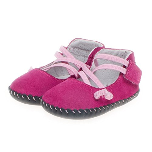 Little Blue Lamb - Chaussures premiers pas cuir souple fille | Ballet rose Taille: 6-12 mois