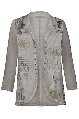 GINA LAURA Damen Blazer grau M 722928 12-M - Taupe Blazer Jacke