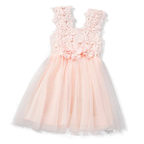 Kid Baby Girls Lace Flower Vest Princess Dress Lovely Clothes