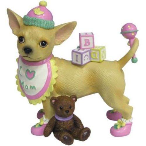 Ours en peluche figurine bébé fille chien Chihuahua chien chiot