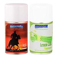 Airance Room Freshner Spray Aroma Perfume Refill Musk & Lemon Grass - 250 ML - Pack of Two - Fit All Machines Using 250 ML / 300 ML Bottles