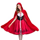 Castello Regina Costume Rosso Riding Hood Dress Up Halloween Cosplay Uniforme Adult Costume Cosplay Per Le Donne,Red,S