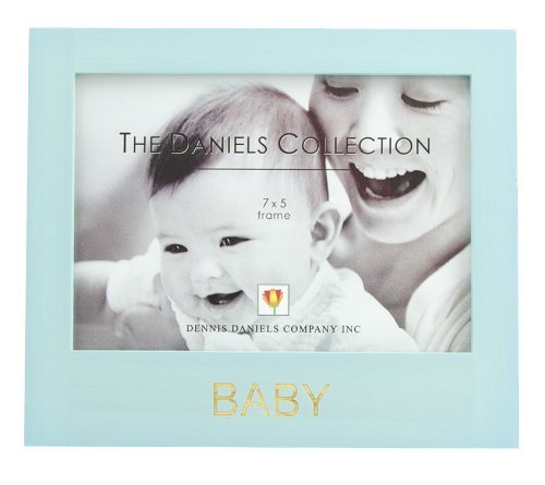 Dennis Daniels Co. The Daniels Collection Blue Wooden Baby Picture Frame