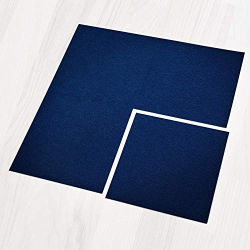Teppichfliesen Can Can | selbstliegend | Rücken: Bitumen, rutschhemmend | Bodenbelag für Büro und Gewerbe | 50x50 cm | 5 Farben (Lagune)