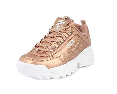 Fila Damen Disruptor II Sneaker, Gold (metallisch), 39.5 EU - Gold Damen Sneaker