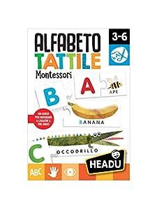 Headu 55035Alfabeto táctil Montessori