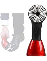 ZXLIFE@ Polisseuse Électrique Portative, Kit De Brosse De Nettoyage avec 5 Têtes De Brosse Remplaçables pour des Chaussures en Cuir, Cireur Automatique Rechargeable De Chaussure