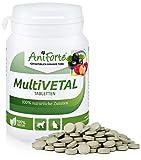 AniForte MultiVETAL Tabletten 100 Stück für Katzen und Hunde, Natürliches Multi-Vitamin mit Bierhefe, Gerstengras, Acerola und Acai