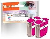 Peach Doppelpack Tintenpatronen magenta kompatibel zu HP No. 82, C4912A
