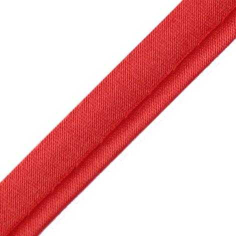 3 Meter Seidenpaspelband 10mm rot Biesenband Satin Paspel Biese am laufenden Meter von der Rolle geschnitten 100% Polyester 4053751003208 - Satin-paspel