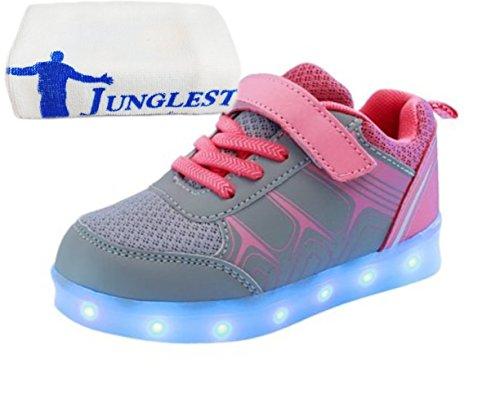 S Leuchtet Sneakers Grau Athletische Jungen Led Kinder junglest® Sportschuhe present Bunte Mdchen Handtuch kleines qwR787va
