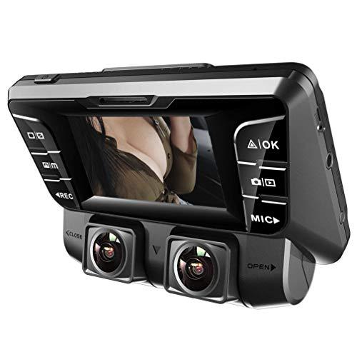 Dash Cam,4K UHD WIFI Anteriore E Posteriore Doppia 170 Gradi Grandangolare Telecamera Dashcam Con Micro SD 128 GB,Sensore Sony,WDR Visione Notturna,Rilevatore Movimento Per Monitoraggio Atti Vandalici