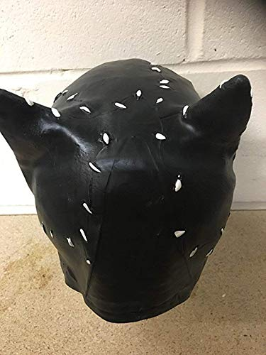 UK Halloween Karneval Cosplay Schwarze Katze Damen Latex Cosplay Voller Kopf Helm Maske - Universalgröße Catwoman Otenkopf Mütze Batman (Kopf Halloween-masken Vollen Uk)