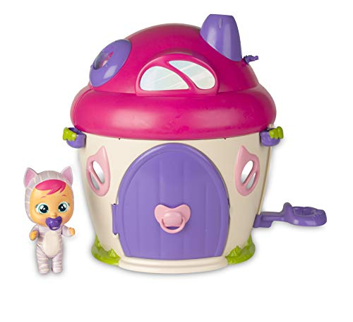 IMC Toys- Cry Babies Magic Tears Katie's House Katie Bebé Lloro con Casa 38X33 Cm, (97940)