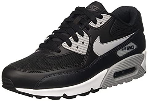 Nike Herren Air Max 90 Essential Sneakers, Schwarz (Black/Wolf Grey-Anthracite-White), 40.5 EU