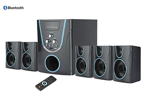 Kaysons Buzz 5.1 Bluetooth Multimedia Speaker Home Theater System with FM USB AUX (Black & Blue)