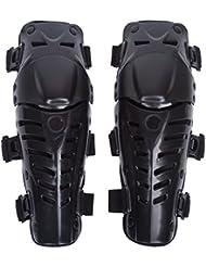Adultos rodilleras moto enduro Espinillera Motocross Protección de Rodilla Motocross Corporal Protector Rodilla Motocicleta Bicicleta Rodilleras para Protector Caballero al Aire Libre ( Negro Fresco )