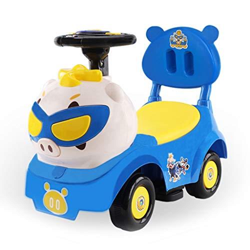 Veicoli a spinta e ruote Auto per Bambini Twist Car Cartone Animato per Bambini Scorrevole Bambino di 1-3 Anni Yo-Yo Giocattolo Auto Musica Camminatore per Bambini Giocattolo di Stoccaggio AUT