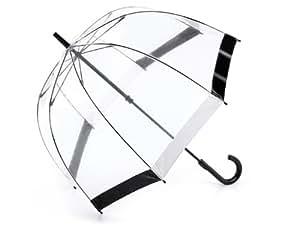 Fulton Birdcage 1 Umbrella Black & White Trim