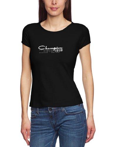 Champion T-shirt à encolure ras du cou pour femme noir
