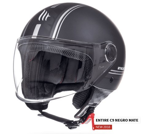 Casco Mt Jet Street Entire, color Negro Mate, T.XL