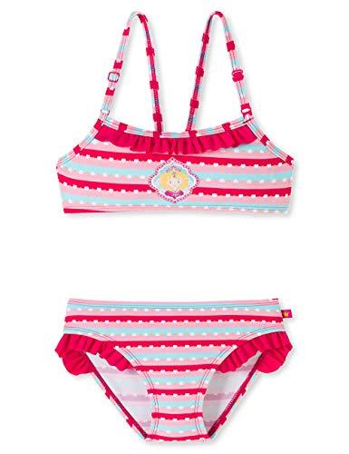 Schiesser Mädchen Prinzessin Lillifee Bustier-Bikini Badebekleidungsset, Mehrfarbig (Multicolor 1 904), 98 (Herstellergröße: 098)