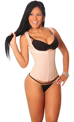 Fajas-Girdles Colombianas Salome 314 Powernet Vest for Women Chaleco de Mujer Black Small