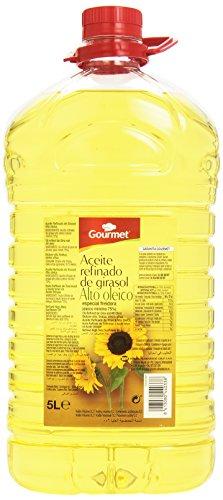Gourmet Aceite Refinado de Girasol, Alto Oleico - 5 l