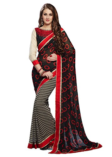 Radadiyatrd Cotton Silk Saree With Blouse Piece (Val-Black_Black_Free Size)