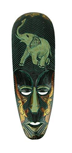 Things2Die4 - Máscara de Madera Tallada a Mano, diseño de Elefante