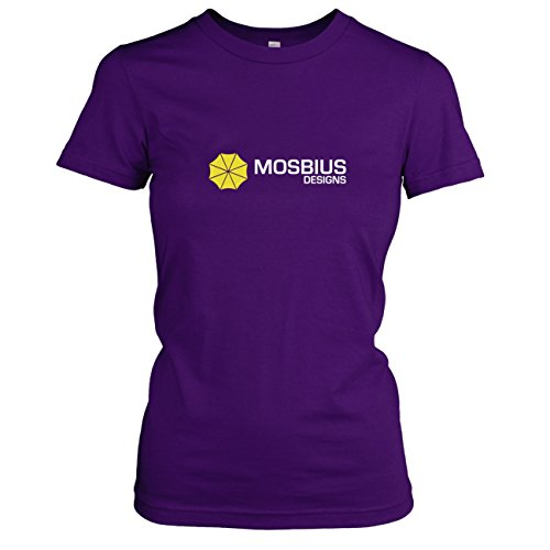 TEXLAB - HIMYM: Mosbius Designs - Damen T-Shirt, Größe XL, violett (Ted Kostüm Himym)