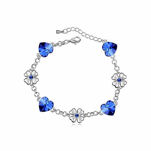 Dreidimensionale Pfirsich Herz Armband Perle Kette 3 Satz Herzförmigen Diamant Armband , Gold (Western Perlenketten)