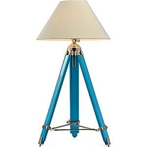Lampe Tripod Vintage Bleu