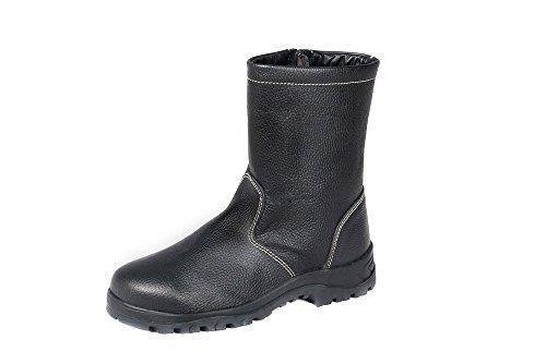 HERKULES Sicherheits-Stiefel I Halbhohe Winter Arbeitsstiefel S2 I Warm Futter, Groesse:45