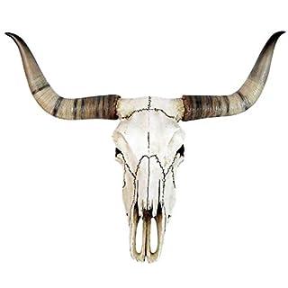 Replica Bull Skull Realistic Hand Painted