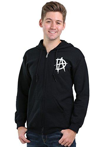 Dean Zip (WWE Dean Ambrose Lunatic Fringe Adult Zip Hoodie 2X)