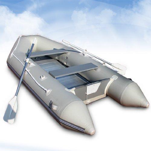 Jago Schlauchboot Motorboot Angelboot Boot - 320x151cm - Aluboden - 11kw/15PS - Set 2 Alupaddel, Tragetasche, Fußluftpumpe, Reparaturset -