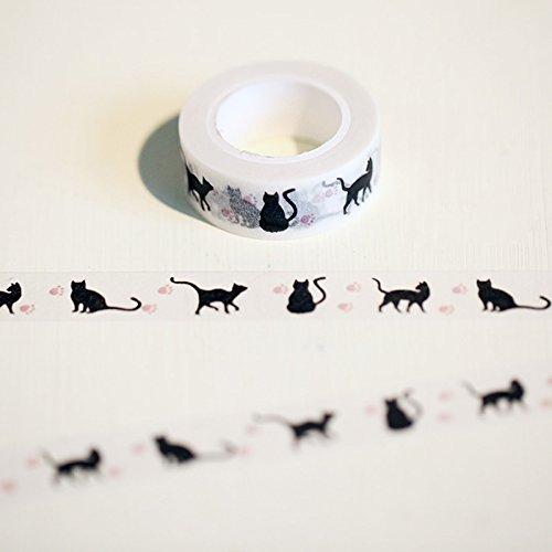 Einzigartige Dekor (Dekor Einzigartige 1.5cm * 10m Hallowmas Katze Washi Band DIY Dekoration Scrapbooking Planer Maskieren Aufkleber Aufkleber Briefpapier)